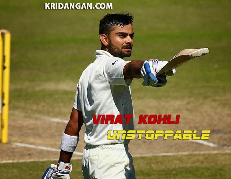 Virat Kohli  test cricket kridangan.com