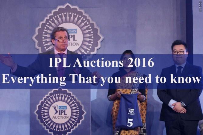 IPL Auctions 2016 Live