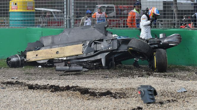 Alonso safe after horror crash at Australian