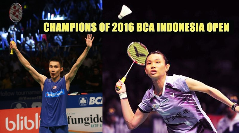 new Champions of 2016 BCA Indonesia Open