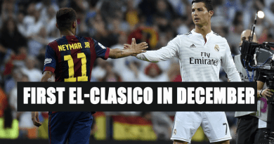 La Liga First El-Clasico in December