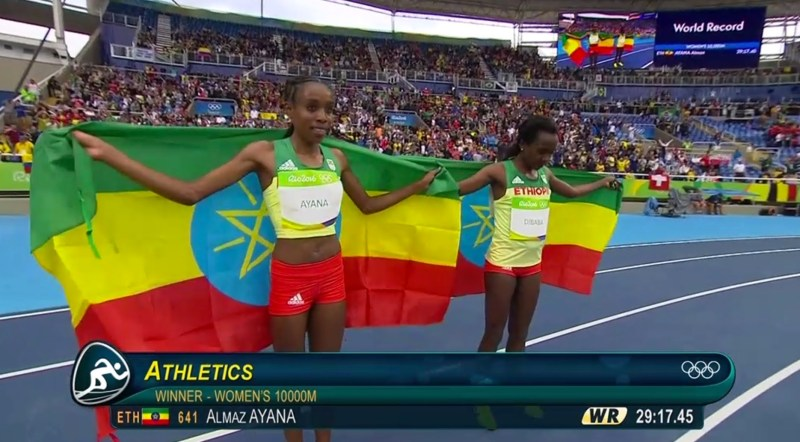 Almaz Ayana Breaks Women's 10000m World Record Tirunesh Dibaba