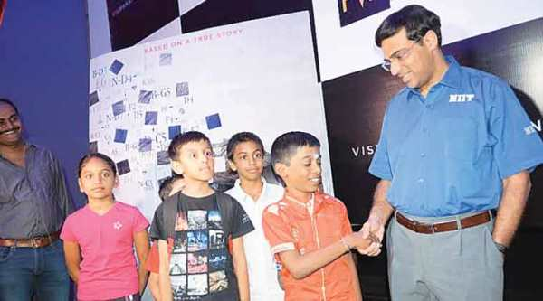 chess kid Praggnanandhaa with anand