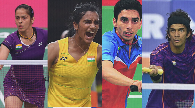 Indian badminton players