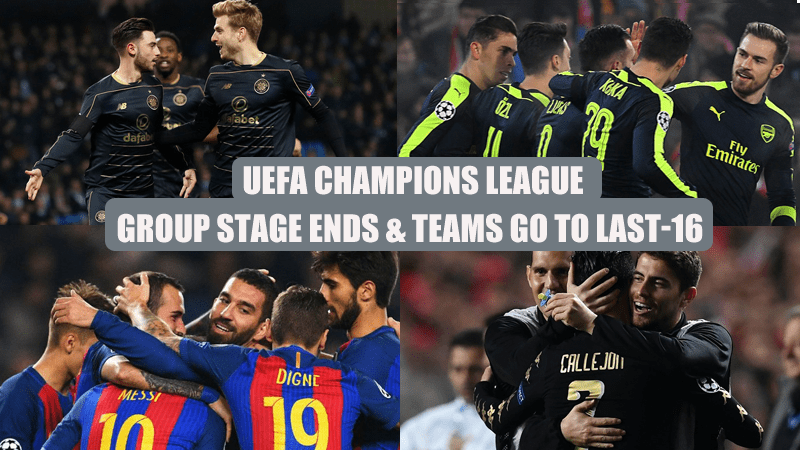 UEFA Champions League: Group Stage Ends & Teams Go To Last-16 Games Starting February 14