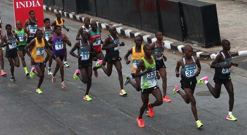 Tanzanian Man Alphonce Simbu & Kenya Woman Bornes Kitur Win 2017 Mumbai Marathon
