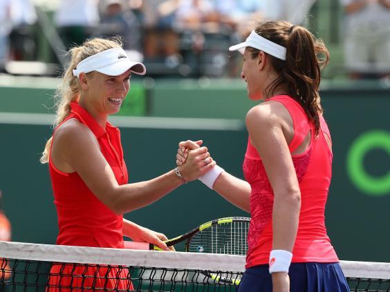 Konta meets Caroline Wozniacki