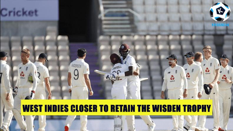 West Indies closer to retain the Wisden Trophy