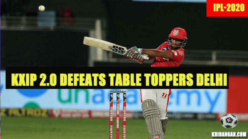 KXIP 2.0 defeats Table Toppers Delhi