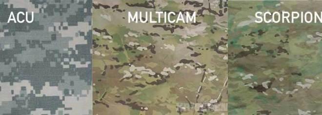 ACU vs. Multicam vs. OCP (Scorpion)