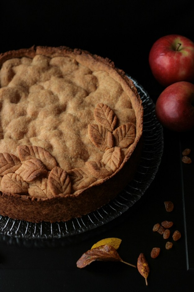 gedeckter Apfelkuchen Äpfel krimiundkeks Herbst Mürbeteig Applecake