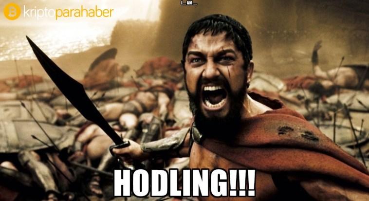 Fiyat düzeltmelerine rağmen HODLing yapan yatırımcı kripto paralarına sahip çıkıyor