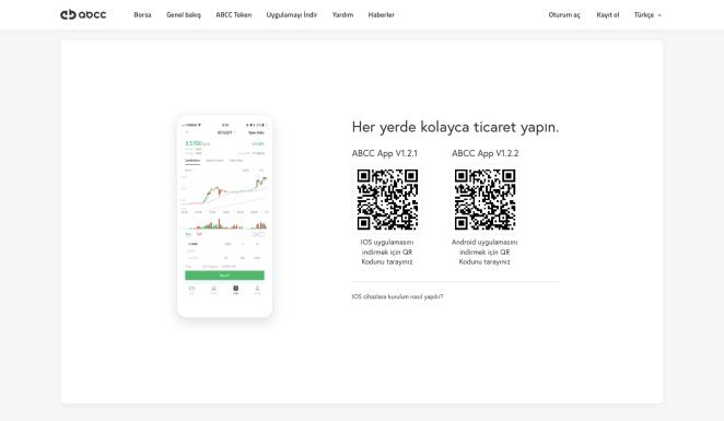 Uygulama indirme sayfası