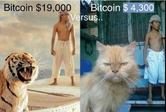 Крипто-юмор: биткоин $ 4,300