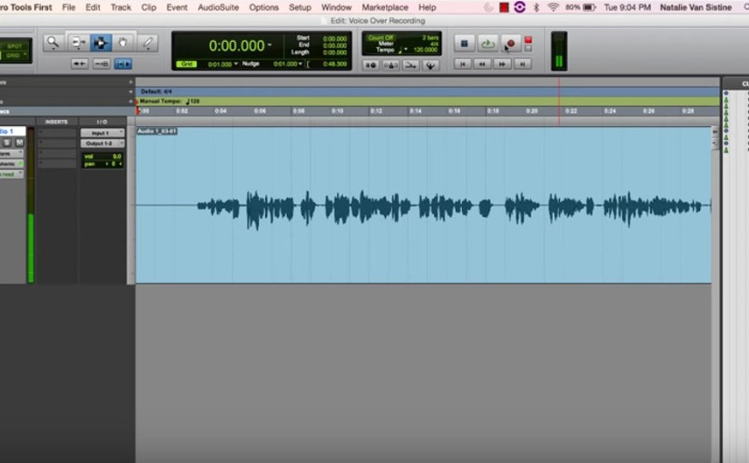 Tutorial How to make a voice record with protools first