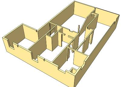 Basement CAD Design - Inner Wall