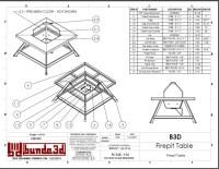 Steel Fire Pit Table Design + Drawing Download  Designer ...