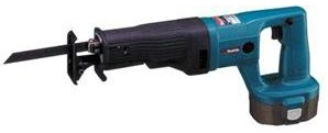 Reciprocating Saw with metal cutting blade, cordless, battery, Makita brand