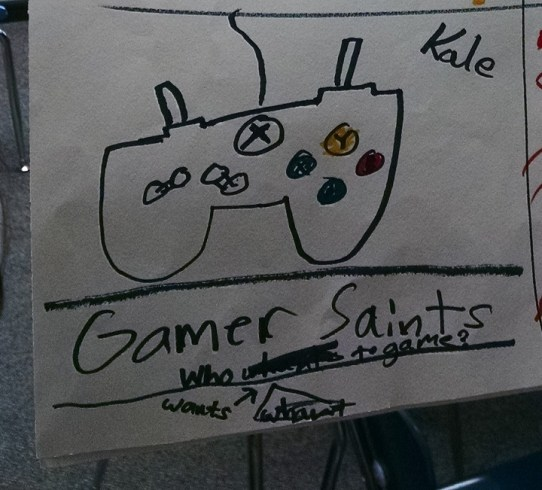 Team Gamer Saints Logo Consensus: I was told the kids liked this controller drawing.