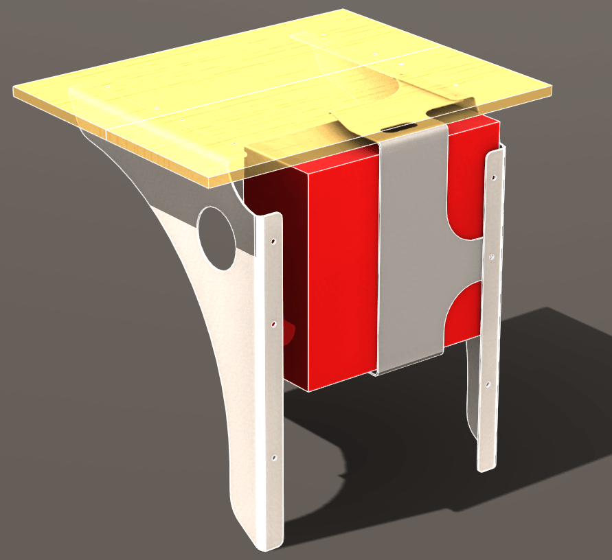 Stand Up Wall Mounted Desk Bracket 3