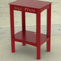 Popcorn Maker Stand with Logo Plate