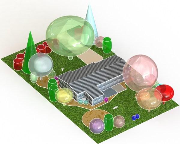 landscaping design plan model