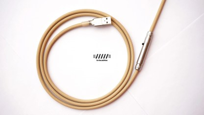 Custom Coiled USB Aviator Keyboard Lemo cables