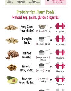 Allergen friendly vegan protein sources chart also top recipes rh kriscarr