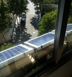 three 10w solar panels on the window sill of the bedroom  [ 2048 x 1536 Pixel ]