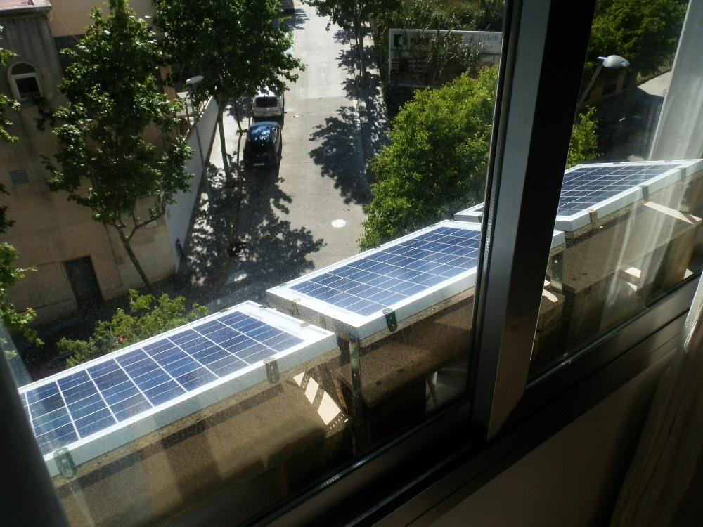 medium resolution of three 10w solar panels on the window sill of the bedroom