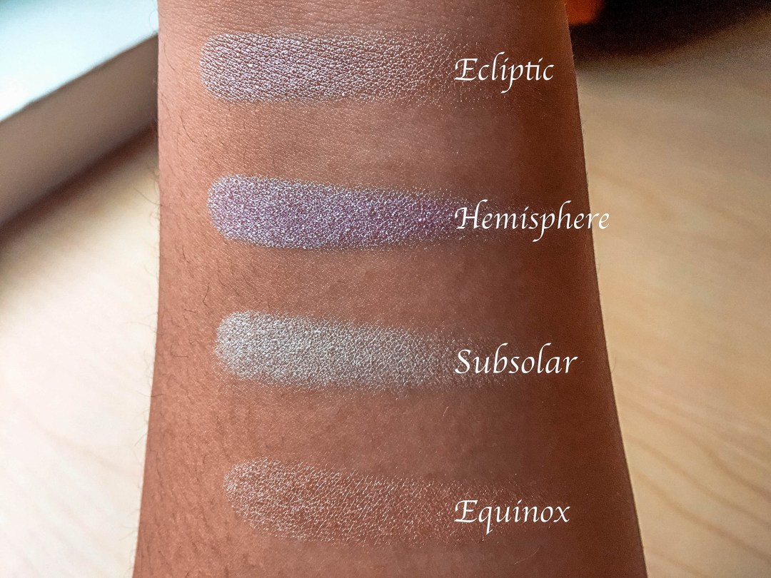 sleek highlighter solstice palette swatches