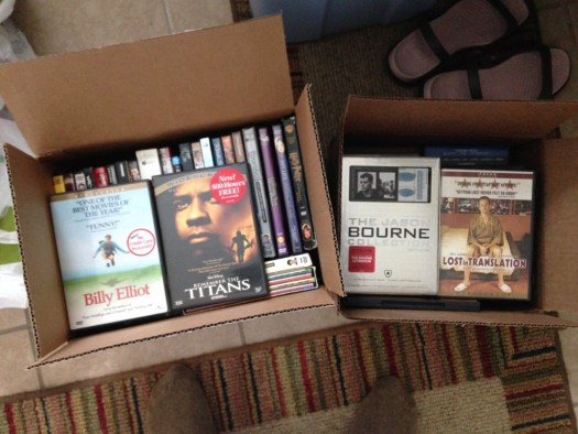 throwing away DVDs
