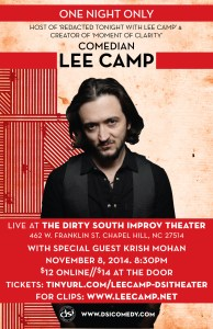 Lee Camp at DSI Theater