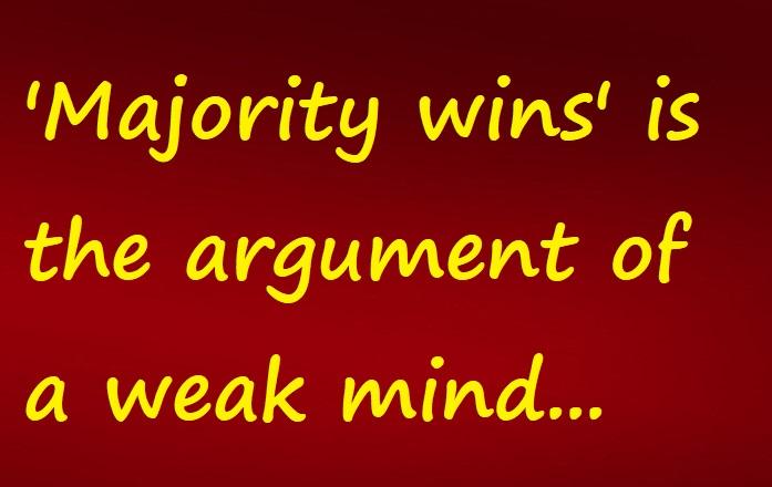 majority wins