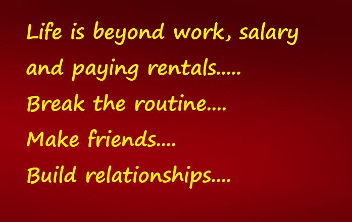 life is beyond work n salary