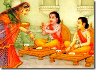 Rama and Lakshmana with their mother