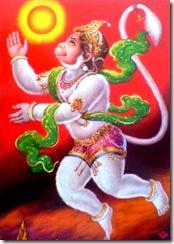 Hanuman chasing the sun