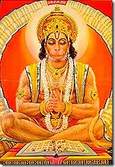 Hanuman practicing real yoga