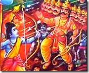 Lord Rama battling the demons