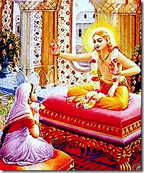 Lord Kapila instructing His mother