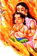 Prahlada and Holika