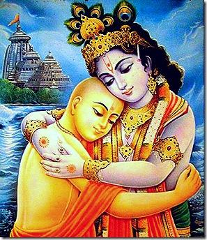 Lord Chaitanya and Lord Krishna