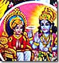 Prahlada Maharaja with Lord Vishnu