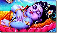 Baby Krishna sleeping
