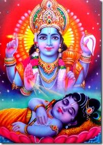 Lord Krishna sleeping