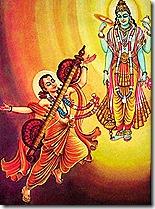 Lord Vishnu with Narada Muni