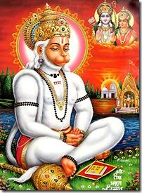 Hanuman practicing bhakti yoga