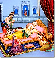 Dasharatha feeling separation pain from Rama