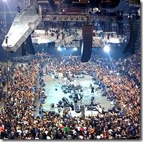Rock concert venue