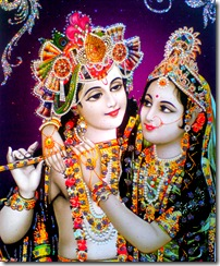 Radha and Krishna in the spiritual world